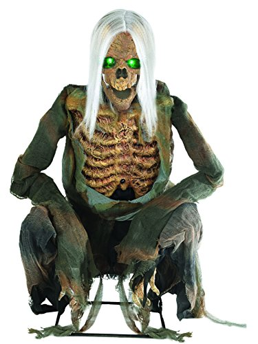 Morris Costumes Animated Crouching Bones Skeleton with Lights - Standard ()