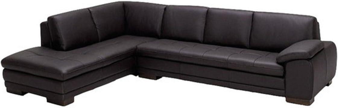 Amazon.com: J & M muebles 625 piel italiana mano izquierda ...