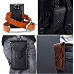 HITFIT Multi Function Leather Holster Pouch Belt Clip Case Mobile Phone, Card, Passport, Powerbank Holder for Samsung…