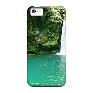 New Premium Cynthaskey Tropical Jungle Waterfall Skin Case Cover Excellent Fitted For Iphone 5c