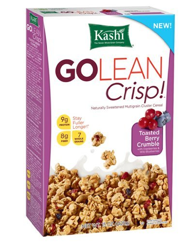 Kashi - Go Lean Crips Cereal, Toasted Berry Crumble, 15 oz. (Pack of 3 ) (Peanut Kashi Butter)
