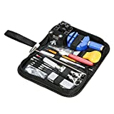 145 PCS Watch Repair Tool Kit Case Portable Watch Back Removing Tool with a Free Hammer