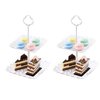 High-Grade Gilding Paper Three-Layer Cake Stand,Disposable Dessert Tower Stand,Snack Display Stand Table Tray for Wedding Birthday Party