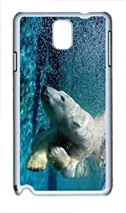 covers brand new polar bear dive PC White case/cover for Samsung Galaxy Note 3 N9000