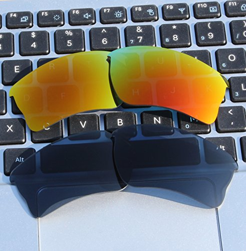 2.0mm Thickness Polarized Replacement Lenses Fire Red for-Quarter Jacket OO9200