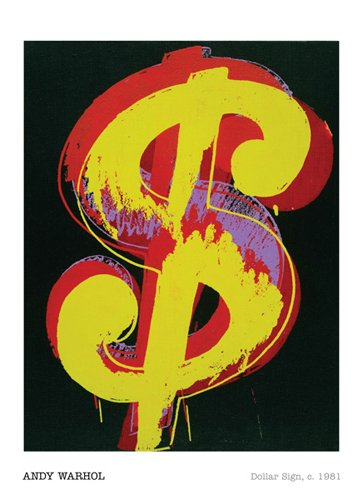 (Dollar Sign, 1981 By: Andy Warhol 36 x 24 Art Print Poster )
