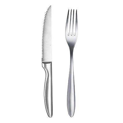 Compra Cuchillo Tenedor de Acero Inoxidable de Tres Piezas ...