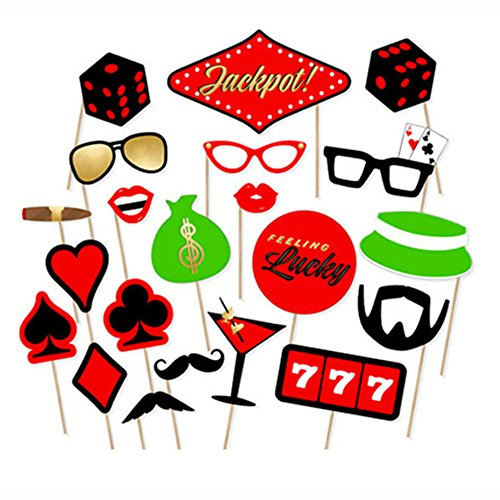 Poker Photo Booth Props for Bachelorette Party Fun Photo Booth Props -21pcs