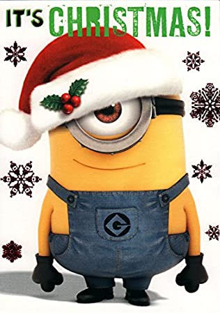 Despicable me Minion Its Christmas card: Amazon.co.uk: Office Products
