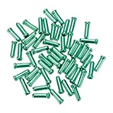 Mmrm Alloy Road Mountain Bicycle Bike Shifter Brake Cable Tips Caps End Tips Crimp (Green)