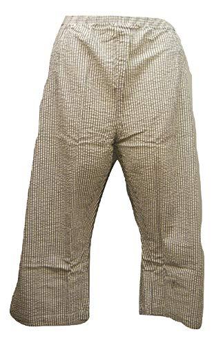 Boca Bay (Boca Bay Women's Capris Straight-Leg Pockets Grey Striped Plus Size 22W)