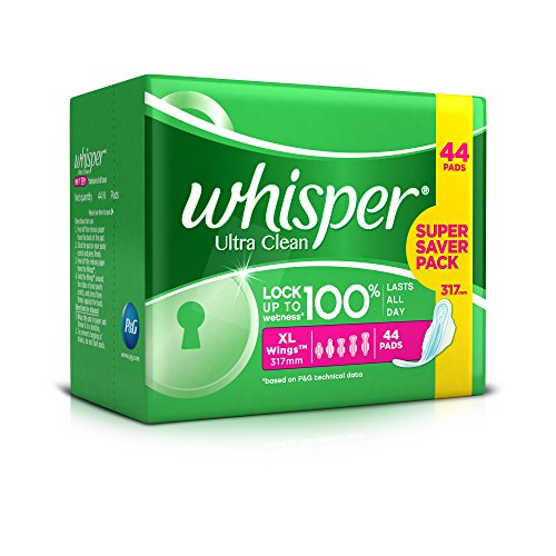 Buy Whisper Ultra Sanitary Pads - 44 Count (Extra Large) Online at ...