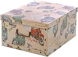 Caja de almacenaje de cartón decorado, de 50 x 45 x 25 cm: Amazon.es: Hogar