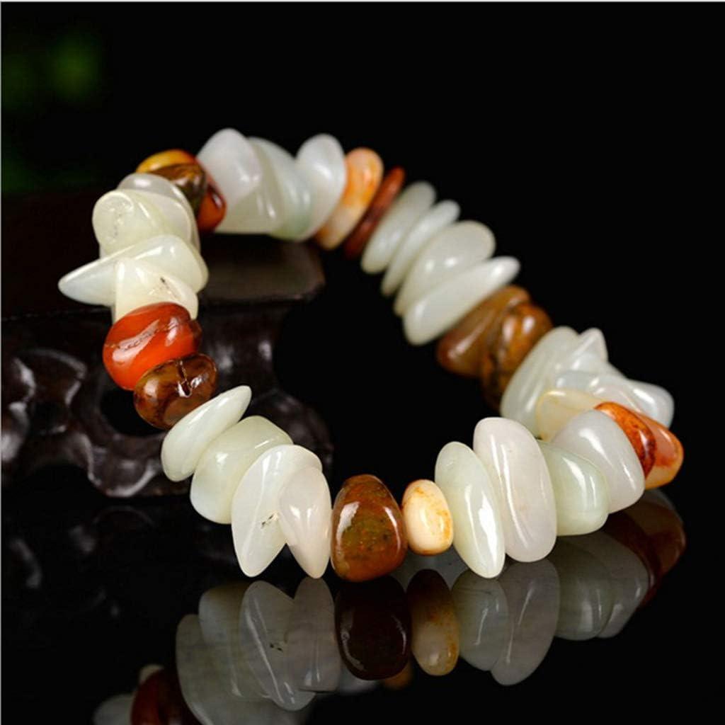 KALRTO Lucky and Tianyu Bracelet, White Jade Original Pulsera Elástica Hecha A Mano, Hombres Y Mujeres Jade Bracelet, Regalo