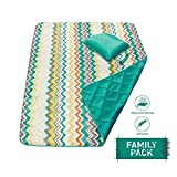 DOZZZ Large Waterproof Sand Proof Picnic Blanket Foldable Compact Mats for Camping Beach Outdoor Park Grass Travel Festival Sporting Events