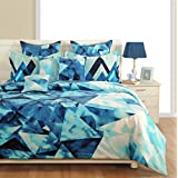 "Yuga Décor Blue Cotton Decorative Queen Size Duvet Cover Bed Set 90"" x 100"" Inches"