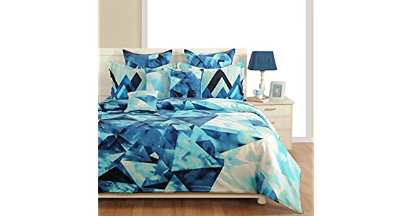 Amazon.com: Yuga Home Décor Azul Juego de sábana cama 210 TC ...