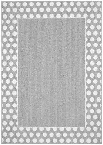 Garland Rug Polka Dot Frame Area Rug, 5 x 7