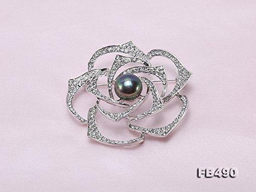Jyx /él/égant 12,5/mm forme de rose Perle deau douce Broche pins