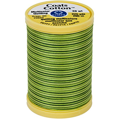 Coats Cotton Machine Spring Green Quilting Thread, 225 yd, Multicolor ()