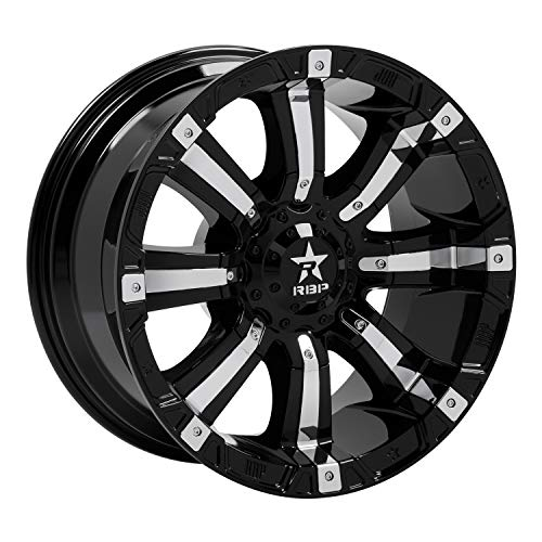 RBP 94R Black with Chrome Inserts Wheel with Painted Finish (20 x 10. inches /5 x 139 mm, -12 mm Offset)