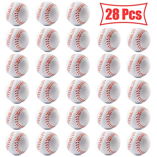Baseball Stress Ball - WATINC 28 Pcs 2.5Inch Baseball Squishies,