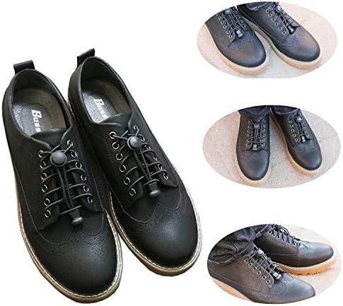 結ばない靴ひも, 靴の着脱を簡単に レースロック 伸縮するワンタッチゴム靴紐 男女兼用 お子様/大人/ご高齢者/アスリーなどの靴紐を結ぶのが苦手な方 反射素材で夜間でも安心