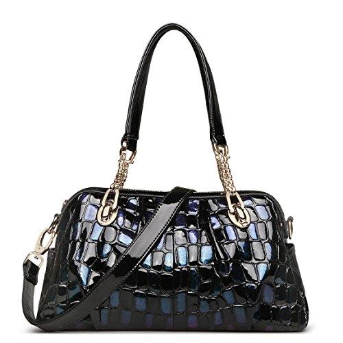 Leather Purses and Handbags for Women Ladies Purse Designer Shoulder Bags ZOOLER Tote (Crocodile Genuine Handbag)