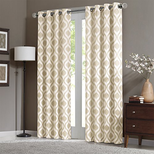Madison Park Verona 100% Polyester Chenille Panel, 52x95, Ivory (Curtain Chenille Fabric)
