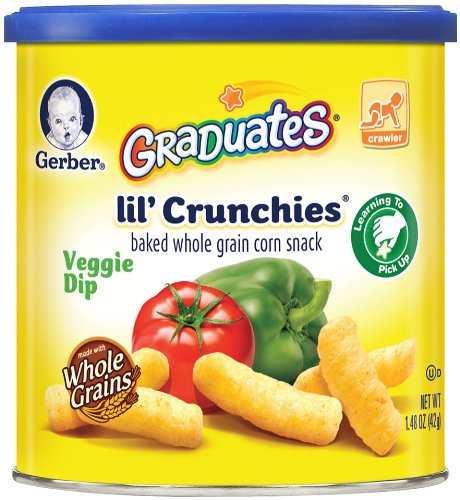 Gerber Graduates Lil' Crunchies, Veggie Dip, 1.48 Ounce