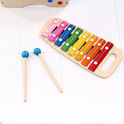 Lewo Wooden Toddlers Musical Toys Pound Tap Bench Xylophone Shapes Sorter Early Educational Games Kids by Lewo (Image #2)