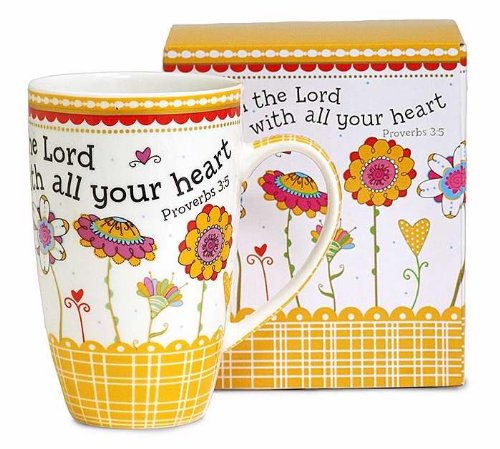 Burton And Burton 128424 Mug Trust In The Lord With All Your Heart With Gift Box