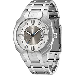 Police Men's PL-13396JS/04M Genesis Silver/Grey Dial Stainless Steel Watch