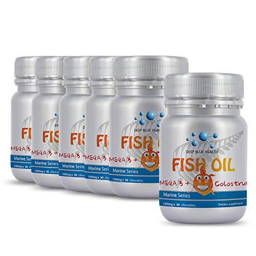 Kids Fish Oil Omega 3 Junior + Colostrum (540 Chews) Buy 5 Bottles Get 1 FREE! by Deep Blue Health