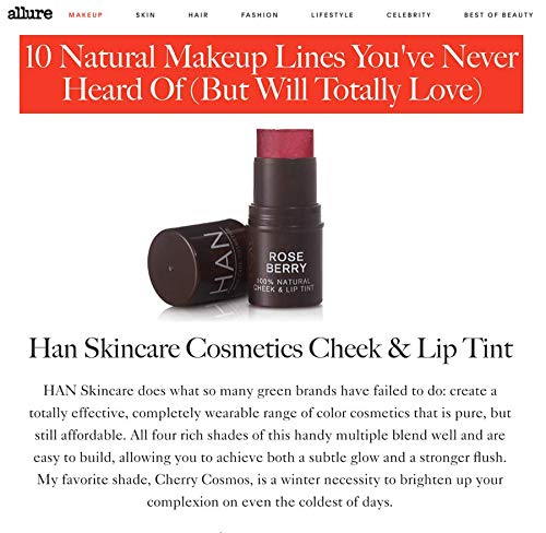 HAN Skin Care Cosmetics Natural Cheek and Lip Tint, Rose Berry by HAN (Image #7)