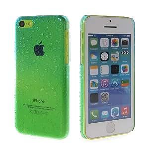 CASEPRADISE Carcasa Duro Funda Caso Tapa Cover Case Para Apple iPhone 5C Azul Green