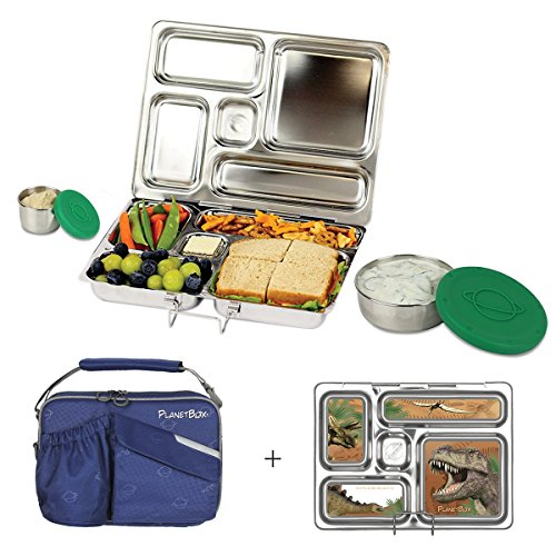 planetbox rover eco friendly stainless steel bento lunch box with 5 compartme. Black Bedroom Furniture Sets. Home Design Ideas