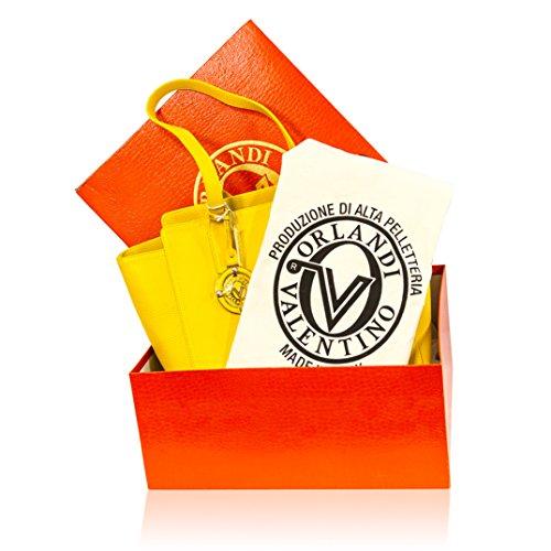 en grand à bandoulière Valentino cuir à italien main sac jaune Orlandi Designer sac wtpqtBF