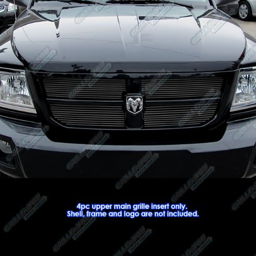 APS Fits 2008-2010 Dodge Dakota Black Main Upper Billet Grille Grill Insert #D66611H Dakota Billet Grille Grill