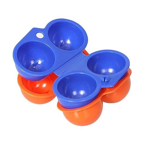 BESTOMZ 6 Eier Aufbewahrungsbox K/ühlschrank Ei Halter Container Eierablage zuf/ällige Farbe