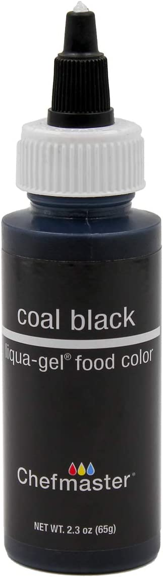 Chefmaster Liqua-Gel Food Color 2.3 oz. - Coal Black