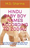 Hindu Baby Boy Names According To Zodiac: More Than 25,000 Hindu Baby Boy Names According To Twelve Hindu Zodiac Sign