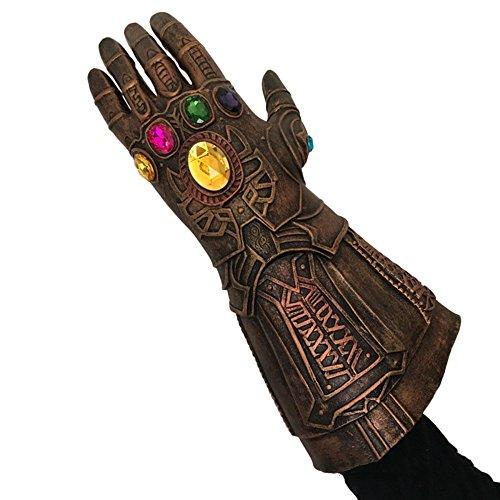 nihiug Avengers Alliance 3 Masque Cosmique Cos Halloween Films Iron Man Sanos Latex Eliminator Gants Infinity,C-OneSize