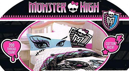 3pc Monster higher Twin Bed sheet Set Freaky Fashion Bedding Accessories