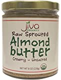Jiva Organics Raw, Sprouted Almond Butter, 8 Fluid Ounce (Pack of 3)