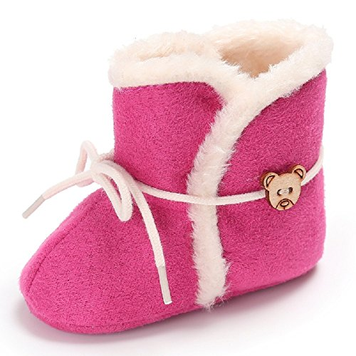 Baby Girls Bowknot Winter Snow Boots (Pink) - 9