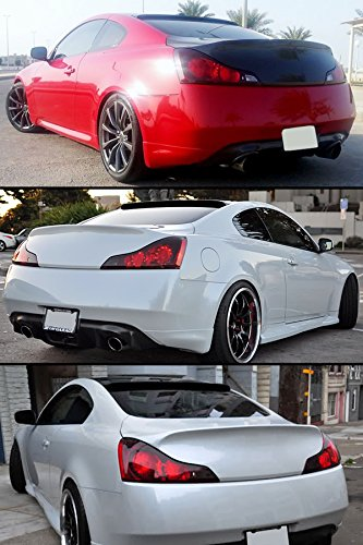 Unpainted JR2 Rear Window Roof Spoiler Fit 2008-2014 INFINITI G37 SEDAN
