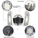 Led Deformable Garage Light, Motion-Activated Ceiling Light 6000LM, High Intensity Mining Lamps, LED Ceiling Light, Radar Home Lighting for Garage, Warehouse,Workshop,Basement (Radar)