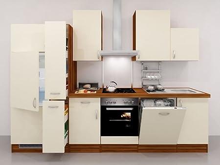 smartmoebel Cocina línea 310 cm Crema con Armario para botiquín y ...