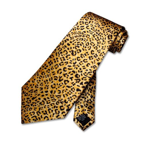 1ddc71bf7595 Amazon.com: CHEETAH Animal Skin Print Neck Tie. SILK Men's NeckTie.:  Clothing